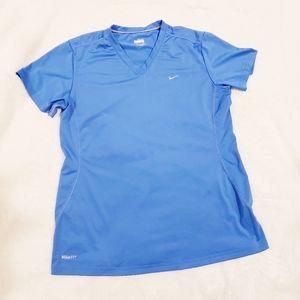 Nike Fit Blue V-Neck T-Shirt